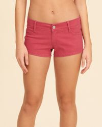 Hollister - Pink Low-rise Sateen Short-shorts - Lyst