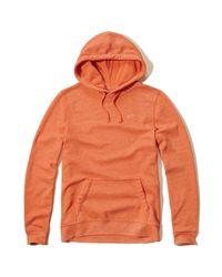 Hollister - Orange Iconic Fleece Hoodie for Men - Lyst
