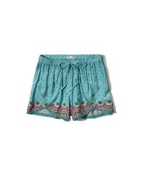 Hollister - Blue Drapey Shorts - Lyst