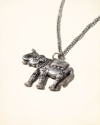 Hollister - Metallic Elephant Pendant Necklace - Lyst