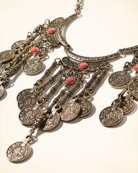 Hollister - Brown Bronze Statement Necklace - Lyst