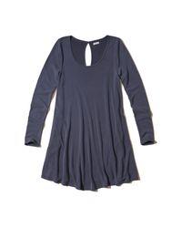 Hollister | Blue Sueded Knit Swing Dress | Lyst