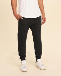 Hollister - Black Neoprene Super Skinny Jogger Pants for Men - Lyst