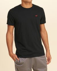 Hollister | Black Must-have Crew T-shirt for Men | Lyst