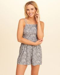 Hollister - Multicolor Patterned Strappy Romper - Lyst