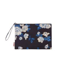 Cath Kidston - Black Crescent Rose Pouch - Lyst