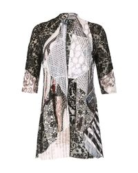 Izabel London - Multicolor Patchworked Loose Over Cardigan - Lyst