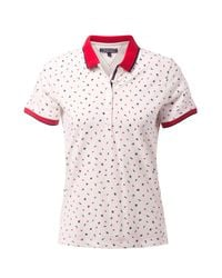 Tommy Hilfiger - White Dinah Print Polo Top - Lyst