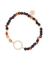 Lucky Eyes | Brown Agate Beaded Bracelet | Lyst