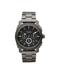 Fossil - Multicolor Fs4662 Machine Brown Leather Mens Watch for Men - Lyst