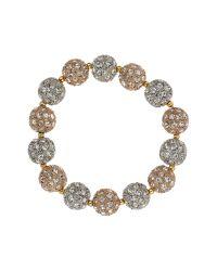 Mikey   White Crystal Heavy Bracelet   Lyst
