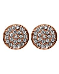 Dyrberg/Kern | Pink Maira Rose Gold Crystal Earrings | Lyst