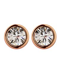 Dyrberg/Kern | Pink Thelma Rose Gold Crystal Earrings | Lyst