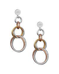 Links of London - Metallic Aurora Double Link Earrings - Lyst