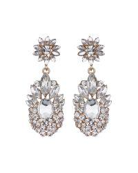 Mikey | Metallic Flower Drop Fillagary Flower Earring | Lyst