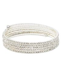 Anne Klein - Metallic Multi Row Stone Bracelet - Lyst
