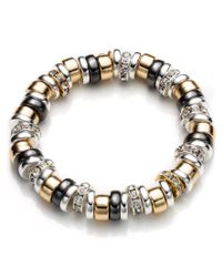 Nine West | Metallic Roundel Stretch Bracelet | Lyst