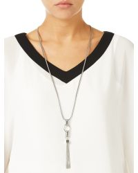 Jacques Vert | Metallic Long Knot Chain Necklace | Lyst