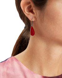 Jaeger - Red Resin Drop Earrings - Lyst