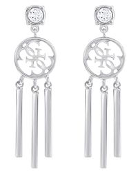 Guess | White Miss Divine Quattro G Tassel Earrings | Lyst