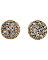 Pilgrim - Metallic Gold Plated With Crystals Earrings - Lyst