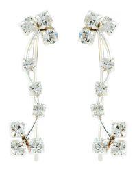 Accessorize | White Sterling Silver Flower Ear Crawler | Lyst