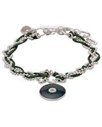 Pilgrim | Silver Plated Green Enamel Bracelet | Lyst