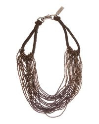Max Mara | Black Obilio Sparkle Beaded Necklace | Lyst