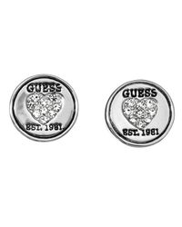 Guess | Red Embrace Me Mini Circle Lock Earring | Lyst