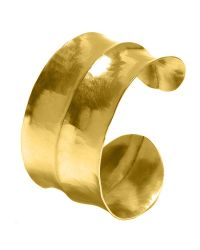 Dower & Hall | Multicolor Nomad Gold Beaten Triple Cuff | Lyst