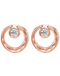 Dower & Hall - Multicolor Dewdrop Rose Circle White Topaz Studs - Lyst