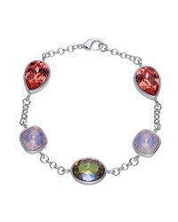 Aurora Flash | Multicolor Rhodium Plated Muti Crystal Bracelet | Lyst