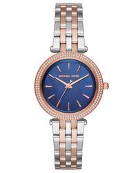 Michael Kors - Metallic Women's Mini Darci Crystal Bracelet Strap Watch - Lyst