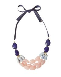 White Stuff - Blue Two Tone Statement Necklace - Lyst