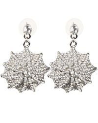 Mikey | White Web Design Earring | Lyst