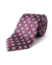 Paul Costelloe - Multicolor Marble Motif Silk Tie for Men - Lyst