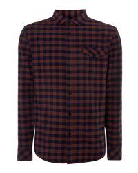 Criminal - Red Men's Meltham Gingham Shirt for Men - Lyst