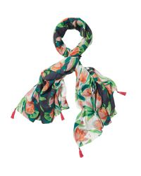 White Stuff - Green Urban Tropics Scarf - Lyst