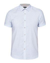 Ted Baker | Blue Angaz Angaz Dot Print Shirt for Men | Lyst
