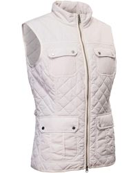 Abacus - White Holmen Quilted Gilet - Lyst