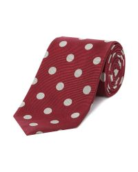 Chester Barrie - Red Silk Tie - Woven Big Spot for Men - Lyst