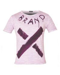Antony Morato - Red Men's Regular-fit Used-effect T-shirt for Men - Lyst