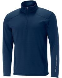 Galvin Green - Blue Dwayne Insula Half Zip Jumper for Men - Lyst