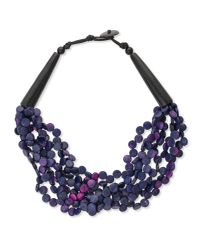 East - Pink Glitzy Shell And Link Necklace - Lyst