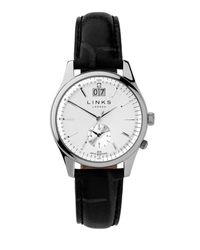 Links of London - Regent Silver Dial Black Strap Watch - Lyst