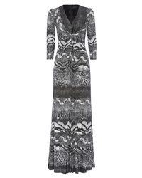 Anoushka G - Gray Eliana Print Jersey Maxi Dress - Lyst