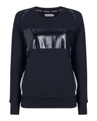 Calvin Klein - Black Long Sleeves Crew Neck Calvin Logo Sweater - Lyst
