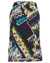 Izabel London - Blue Bold Print Sleeveless Top - Lyst