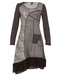 Izabel London - Gray Printed Knit Dress - Lyst