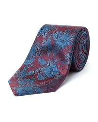 Paul Costelloe - Multicolor Bishop Bold Floral Silk Tie for Men - Lyst